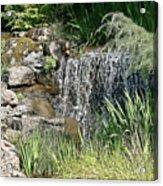 Waterfall And Pond Acrylic Print