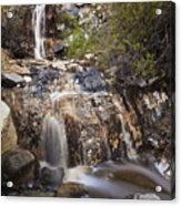 Waterfall At La Jolla Canyon Acrylic Print