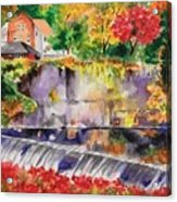 Waterfall at the Old Saugerties Mill Acrylic Print
