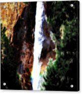 Waterfall At Yosemite Acrylic Print