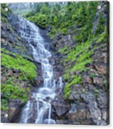 Waterfall Below The Garden Wall Acrylic Print