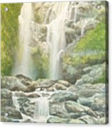 Waterfall Acrylic Print by Charles Hetenyi