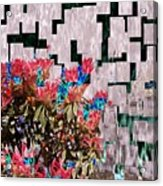 Waterfall Flowers 2 Acrylic Print