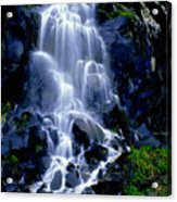 Waterfall Flowing And Ebbing Acrylic Print