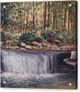 Waterfall Glory Acrylic Print