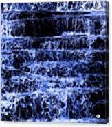 Waterfall In Blue Acrylic Print