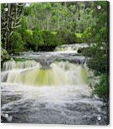 Waterfall In Cradle Mountain Acrylic Print