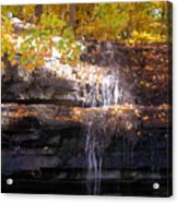 Waterfall In Creve Coeur Acrylic Print