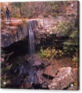 Waterfall In Fall - 1 Acrylic Print