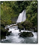 Waterfall In La Fortuna Acrylic Print