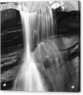 Waterfall In Nh Black And White Acrylic Print