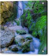 Waterfall In Soft Dream. Acrylic Print