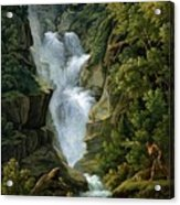 Waterfall In The Bern Highlands Acrylic Print