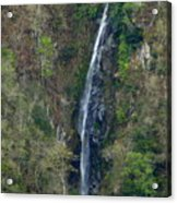 Waterfall In The Intag 2 Acrylic Print