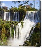 Waterfall In The Jungle Acrylic Print