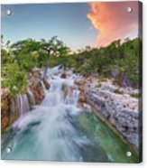 Waterfall In The Texas Hill Country 3 Acrylic Print
