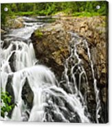 Waterfall In Wilderness Acrylic Print