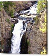 Waterfall In Yellowstone Acrylic Print