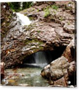Waterfall Into A Cave Acrylic Print