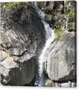 Waterfall Into The Feather River Acrylic Print