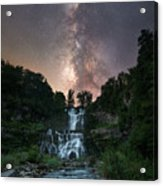 Waterfall Milky Way  Acrylic Print
