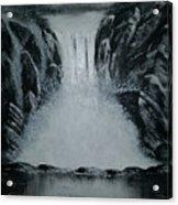 Waterfall Of Life Acrylic Print