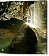 Waterfall Of The Caverns Acrylic Print