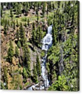 Waterfall On Lava Creek 1 Acrylic Print
