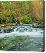 Waterfall On Little Pigeon River Smoky Mountains Acrylic Print