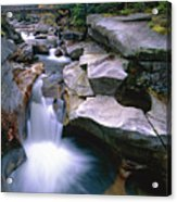 Waterfall On The Ammonoosuc River  Acrylic Print