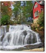 Waterfall Painting Acrylic Print
