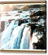 Waterfall Scene For Mia Parker - Sutcliffe L A S With Decorative Ornate Printed Frame.  Acrylic Print