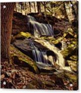 Waterfall Through The Trees Acrylic Print
