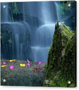 Waterfall02 Acrylic Print by Carlos Caetano