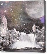 Waterfalls At Night Acrylic Print