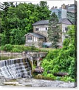 Waterfalls Cornell University Ithaca New York 04 Acrylic Print