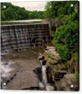 Waterfalls Cornell University Ithaca New York 08 Vertical Acrylic Print