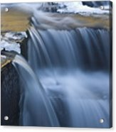 Waterfalls In Blue And Gold Acrylic Print