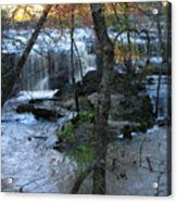 Waterfalls In Morning Acrylic Print