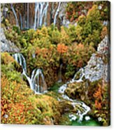 Waterfalls In Plitvice Lakes National Park Acrylic Print