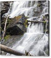 Waterfalls Of Lost Creek Acrylic Print by Dana Moyer