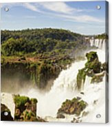 Waterfalls On Iguazu River Acrylic Print