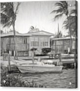 Waterfront Cottages At Parmer's Resort In Keys Acrylic Print