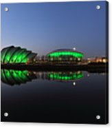 Waterfront Pano In The Twilight Acrylic Print