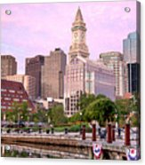 Waterfront Park Pink Acrylic Print by Susan Cole Kelly