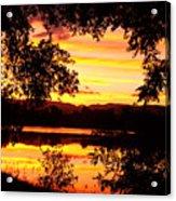 Waterfront Spectacular Sunset Acrylic Print