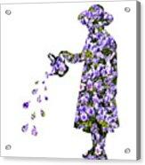 Watering Flowers Acrylic Print