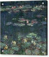 Waterlilies Green Reflections Acrylic Print