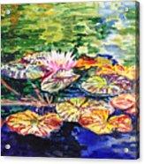 Waterlilies Impressionism Acrylic Print