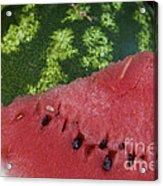 Watermelon Slice Acrylic Print